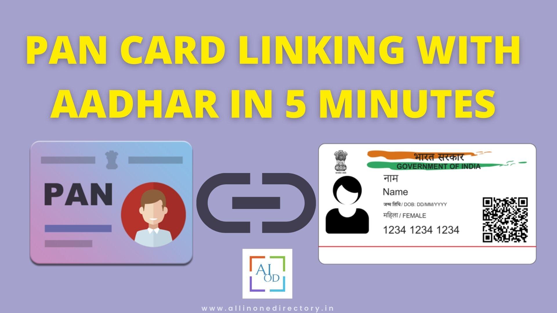 Simple Steps To Link PAN Card With Aadhar Card